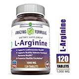 Amazing Nutrition L-arginine 1000 Mg 120 Tablets - Supports Circulation and Muscles - Supports Cardiovascular Health - Conditionally Essential Amino Acid - Pharmaceutical Grade (Usp) from Amazing Nutrition