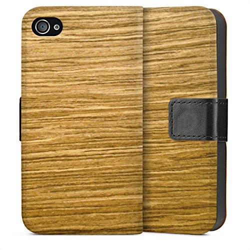Apple iPhone 6 Housse Étui Silicone Coque Protection Look bois Chêne Grain Sideflip Sac