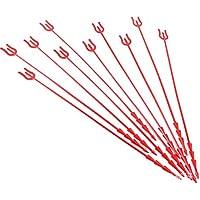 PRETYZOOM 50Pcs Tarjeta de Flor Roja Recoge Portatarjetas de Ramo Portatarjetas con Forma de Horquilla Portatarjetas para Floristería Fiesta de Bodas de Cumpleaños