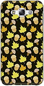 The Racoon Lean printed designer hard back mobile phone case cover for Samsung Galaxy E7. (Dark Fall)