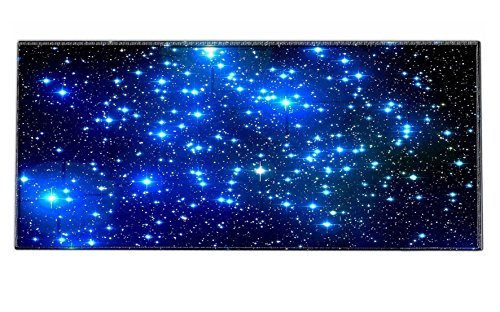 iKammo Galaxy High Grade Non-slip Rubber Base Sticthed Edge Gaming Mouse Pad - Designed to fit Computer Desk Stationery Accessories 35 x15.55 x0.07 Galaxy
