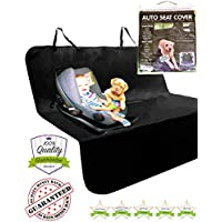 Dedimi Dog Car Seat Covers Pet Cover Backseat Rear Protector Accessories for Pets Kids Waterproof Durable Nonslip Scratch Proof Washable for Small Cars Caravans Trucks SUV