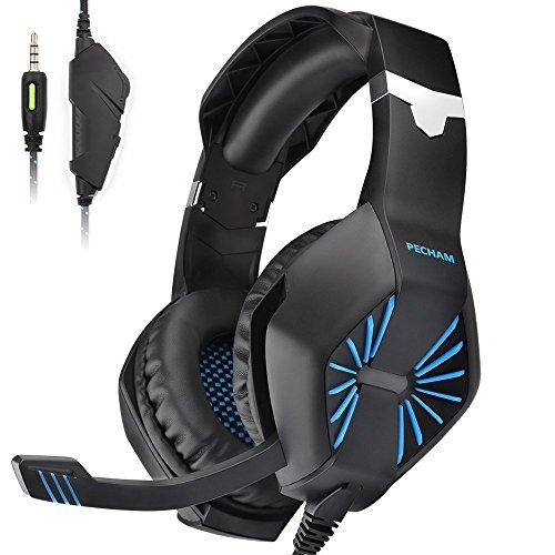 PECHAM ps4 Gaming auriculares con micrófono para Xbox nueva uno, PS4,