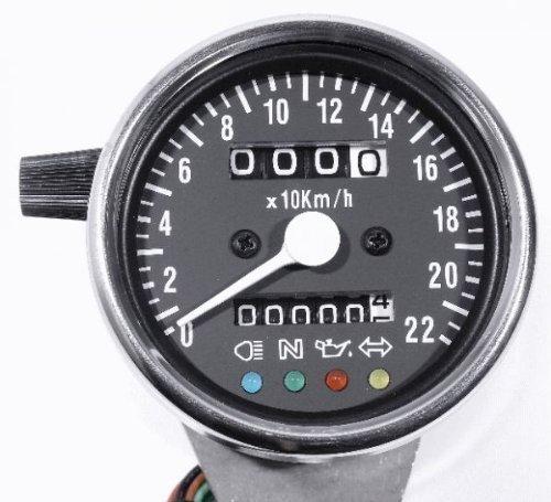 Mini Tacho bis 220 km/h für Motorräder, Harleys und Custom Bikes