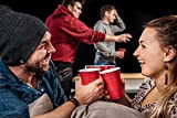 100 Red Cups + 6 Beer-Pong-Bälle + Gratis E-Book Guide | Premium Beer-Pong-Becher (16oz/473ml) | rote Becher als Party-Zubehör | rote Partybecher im Beer-Pong-Set by Party Pioniere -