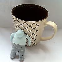 Ewin24 1pcs Mr.Tea infusore silicone allentato foglia di tè Colino di erbe Spice Filtro Diffusore