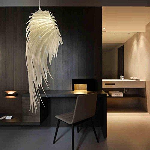 Moderne Elegante Pendelleuchte Weiß Federlampe Hängelampe Künstlerisches Design Gemütliche Leuchte 1×E27 Höhenverstellbare für Wohnzimmer Schlafzimmer Ducky Dekorativer warmen Kronleuchter -