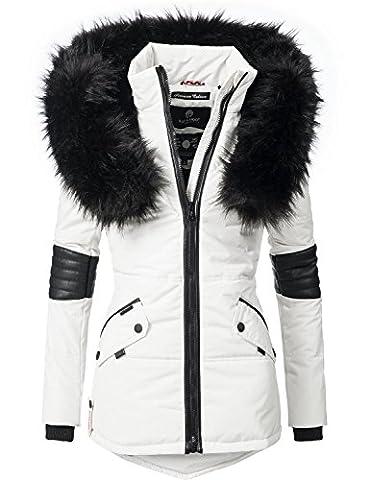 Navahoo Damen Jacke Winterjacke Steppjacke Nirvana (vegan hergestellt) Weiß Gr. XL (Charakter Jacken)