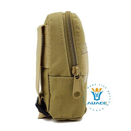 Multifunktions Survival Gear Tactical Beutel MOLLE Tasche Military Handytasche, Outdoor Camping Tragbare Travel Bags Handtaschen Werkzeug Taschen Taille Tasche KH