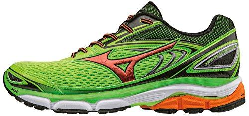 Mizuno Wave Daichi 2 (W), Chaussures de Running Entrainement Homme Vert (Green Gecko/clownfish/black)