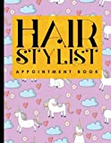 Hair Stylist Appointment Book: 6 Columns Appointment Diary, Appointment Scheduler Book, Daily Appointments, Cute Unicorns Cover: Volume 64