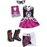 Nancy - Set de vestidos LML, color granate (Famosa 700012074)