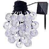 KEEDA Outdoor Solar String Lights, Waterproof Crystal Ball Lights, 30LED 20ft Garden Fairy