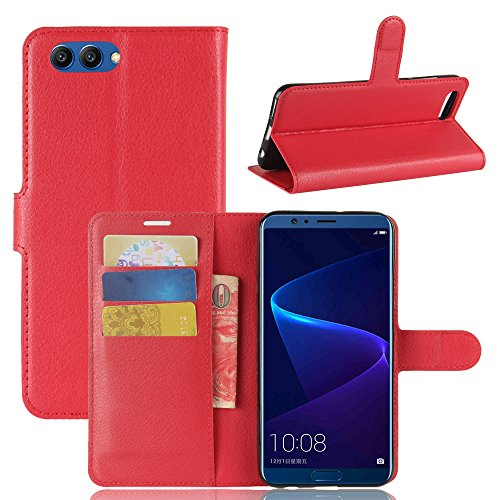 Huawei Honor V10 Durable Protective Case Protective skin Casefirst Protective Skin Double Layer Bumper Shell Shockproof Impact Defender Protective Case Durable Protective Case for Huawei Honor V10 , Red (Facetime Wi)