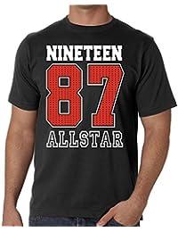 1987 ALLSTAR Mens 30th Birthday Gift T-Shirt - Screen Printed For Long Lasting Print
