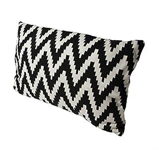Hugo Frosch Lebensart Designer-Kissen mit Integriertem Eco Wärmflasche, Unisex, Lebensart Designer Cushions with Integrated Eco, schwarz/weiß