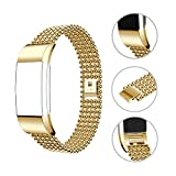 HuaForCity Uhrarmband Wristband für Fitbit Charge 2, für Fitbit Charge 2 Strap, Fitbit Band Smart Uhr Edelstahl Verstellbarer Ersatz Armband für Fitbit Charge 2