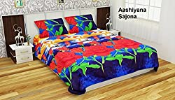 Single Bedsheet with 1 Pillow Cover by Aashiyana Sajona