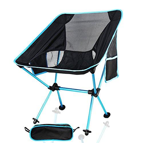 IDEAPRO Chaise pliante légère pour camping avec capacité de 150 kg, dossier de chaise léger et confortable - Pour la pêche, la randonnée, les pique-niques, les voyages