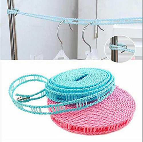 new-cheap-high-quality-fence-type-non-slip-drying-clothes-rope-washing-line-clothesline-5m18cm-bh045