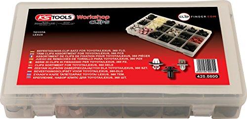 KS Tools 420.0800 Befestigungs-Clip-Satz für Toyota/Lexus, 360-tlg.