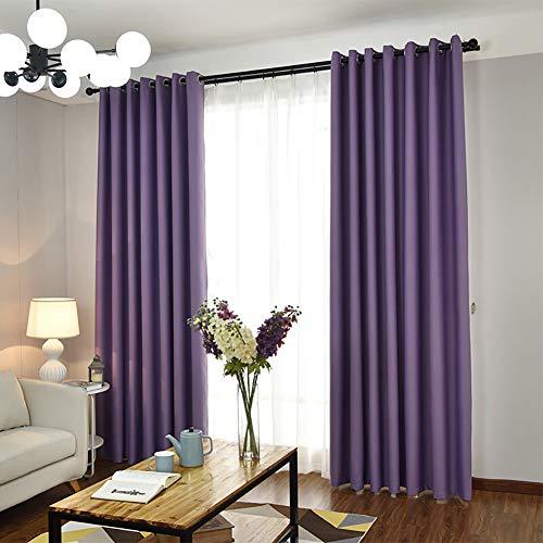 Thermovorhang lichtdicht mit Ösen,1 Stück Geräuschreduzierung Wärmeschutz Gardinen Wohnzimmer, für Schlafzimmer Kinderzimmer Wohnzimmer - Lila 135x245cm(53x96inch) (96-zoll-gardinen)