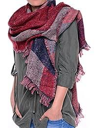 Leira - großes Schultertuch Schal/Tuch mit trendigem Farb-/Mustermix