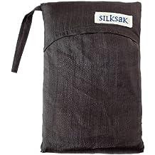 Silksak - Bolsa saco de dormir de seda para 2 personas (172 x 190 cm) negro negro
