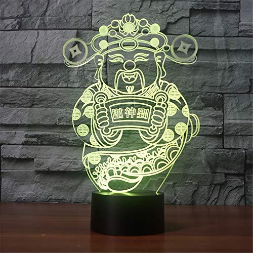 3D Chinese Fortuna Form NightLight bunte USB Lampara Tischlampe kreative LED Schlaf Beleuchtung Kindergeschenke Dekoration Fortuna-form
