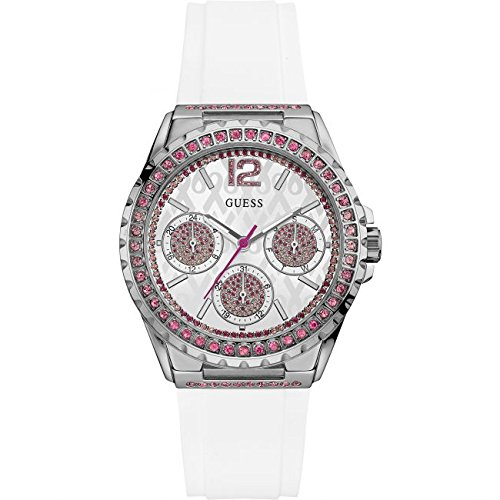 Ladies Guess Sparkling Pink Exclusive Watch W0032L6