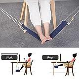 Fuß Hängematte, Togather Verstellbare Fußhängematte Fußstütze unter dem Schreibtisch (Blau)