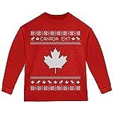 Old Glory Canadian Kanada Eh Hässlich Weihnachten Pullover Kleinkind Langarm T-Shirt Rot 4 t