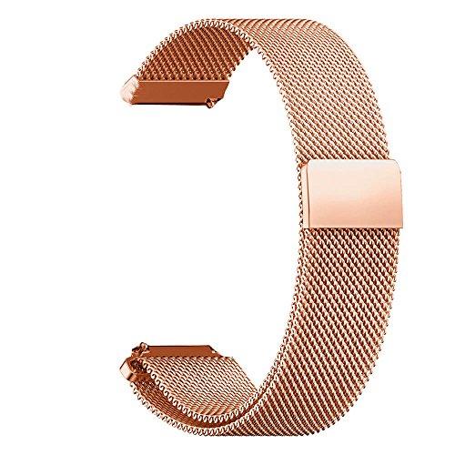 Pinhen 16mm Schnellspanner Magnet Milanaise Loop Edelstahl Ersatz Armband für Moto 3602Nd Gen Damen 42mm und Andere 16mm Breit Lug Uhren (Ersatz-nautica-uhr-band)