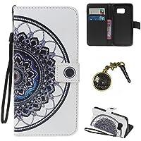 PU pour Samsung Galaxy S7 Coque Bookstyle Étui Fleur Housse en Cuir Case à rabat pour Samsung Galaxy S7 Coque de protection Portefeuille TPU Case Cover (+Bouchons de poussière) (3)