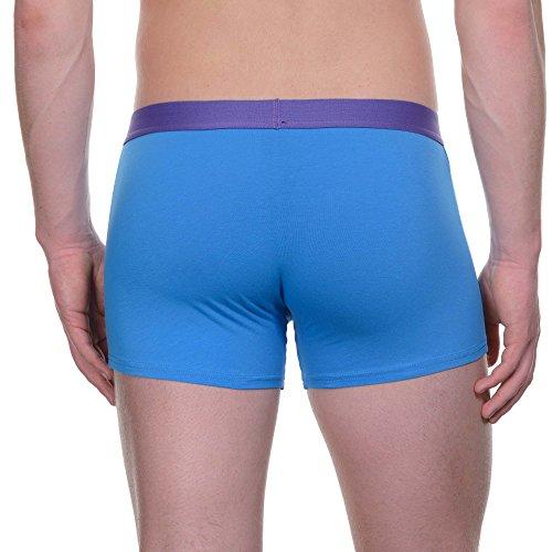 bruno banani Herren Shorts, 2er Pack Mehrfarbig (Blau// Violett 2305)