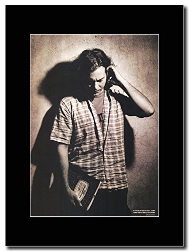 Pearl Jam - Eddie Vedder Trying to Keep It Small Magazine Promo on a Black (Pearl Jam Memorabilia)