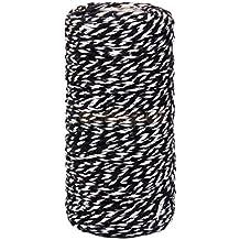 100metros de algodón Bakers Twine Cuerda. Botella de cristal caja de regalo Decor Craft, negro