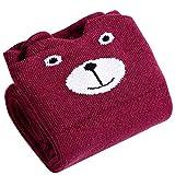 Butterme Neonate animale sveglio del fumetto Bear Cat Fox Cotton Socks corso Vitello calzettoni calze per 3-10 anni i bambini (#7)