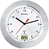 """Bresser 8020114 Radio Controlled Clock """"MyTime Bath"""" with Temperature Display - White"""