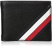 Tommy Hilfiger Mens Rfid Blocking Slim Thin Bifold With Removable Card Holder Wallet, Color: Black