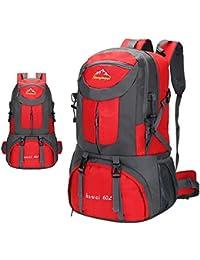 los estudiantes de la escuela del bolso del alpinismo de gran capacidad de acampar al aire libre mochila de ocio mochila mochila mochila pareja , red , 60l