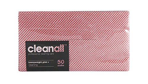 cleanall jcchp50r janitors panno, pesante, Plus, Rosso (Confezione da 6)