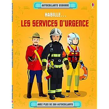 Habille... Les services d'urgence - Autocollants Usborne