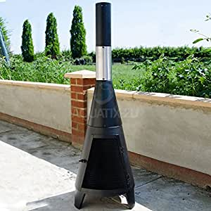 Contemporary Chiminea For Garden And Patio Fire Pit With