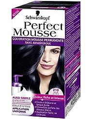 Schwarzkopf Perfect Mousse Coloration Permanente 210 Noir Glacé 35 ml