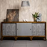 Native Home Sideboard Holz, mit Muster, modern, massiv, mit Türen, Mangoholz, Kommode, HBT: 75 x 177 x 45 cm, grau-braun