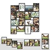 Kunststoff Bilderrahmen Fotorahmen Collage Zum Individuellen Gestalten 16x 13x18cm Schwarz mit Normalglas und Klammern