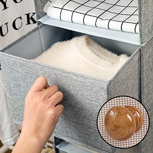Cotton Drawer Organizer hängende Kleidung Aufbewahrungsbox, shengo umweltfreundliche Baumwolle Leinen für Schuhe, Stiefel, Handtaschen (28x28x19cm, 3 Regale) (Baumwolle Pyjama-böden)
