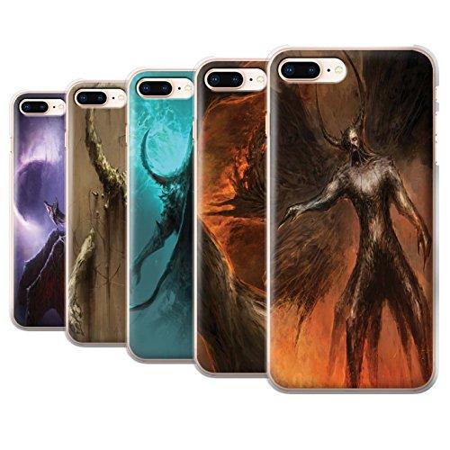 Offiziell Chris Cold Hülle / Case für Apple iPhone 8 Plus / Geist/Ghul Muster / Dunkle Kunst Dämon Kollektion Pack 10pcs