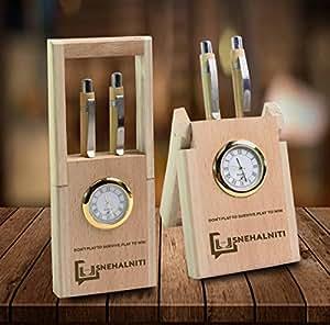 SnehalNiti Table Clock with Pen